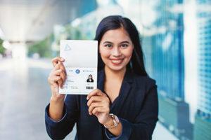 Asian Woman Holding K1 Visa