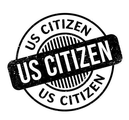 U.S. Citizen Stamp. Naturalization
